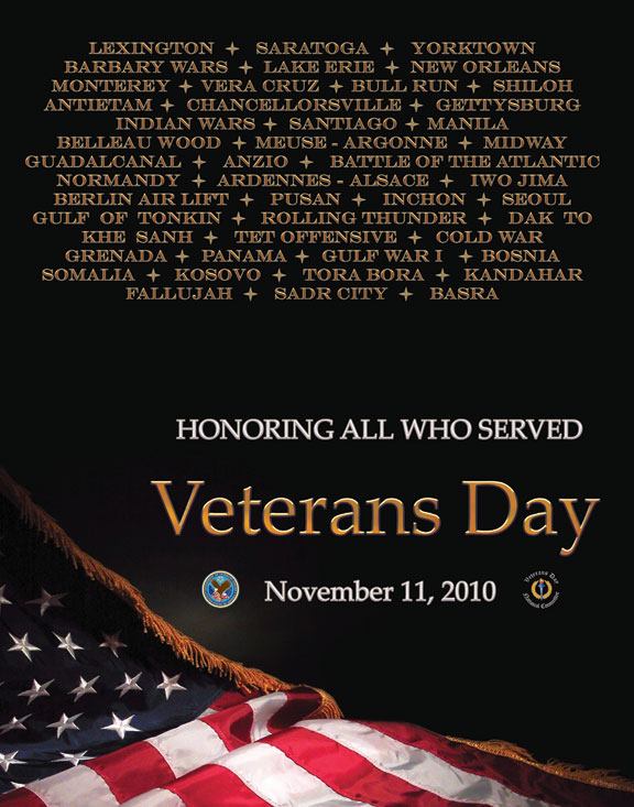 Veterans Day Poster 2010