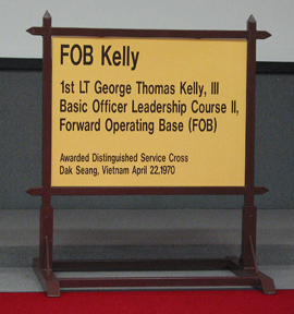 FOB Kelly Entrance sign